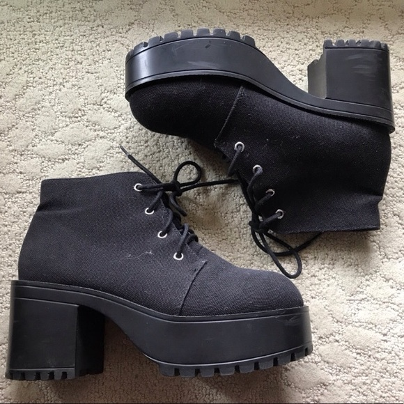 8a746c76087 H M Shoes - H M platform lace up ankle boots canvas 7